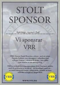 Gammelyxan sponsrar VRR