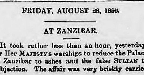 Kriget mellan Zanzibar och Storbritannien.