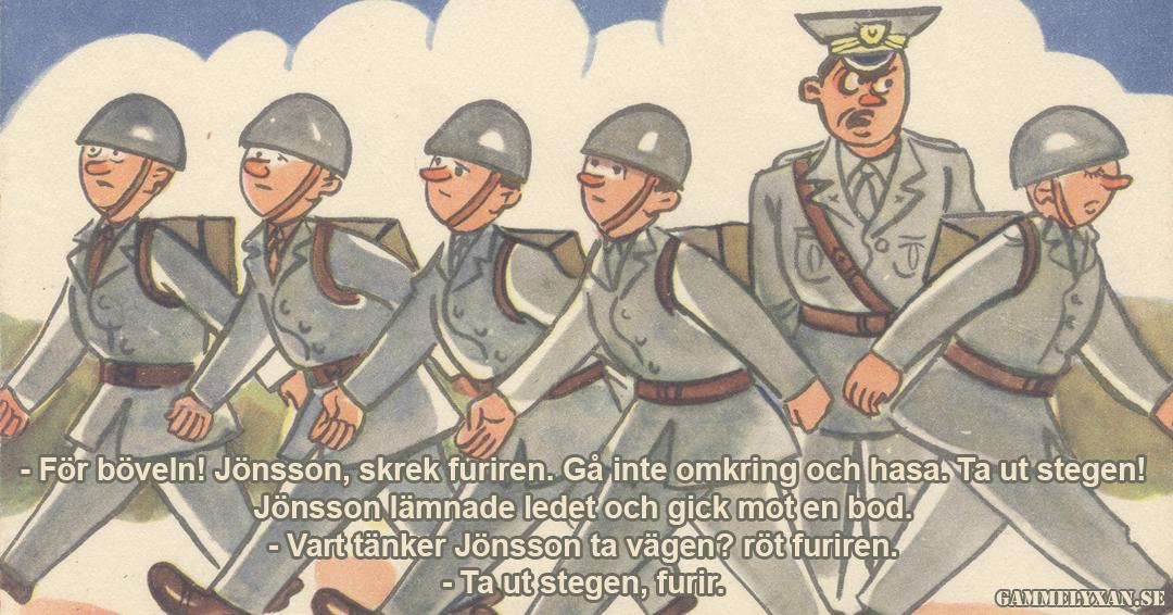 Rolig militär humor om menig soldat och furir.