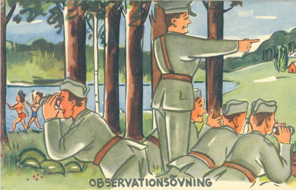 Humor om militär övning.