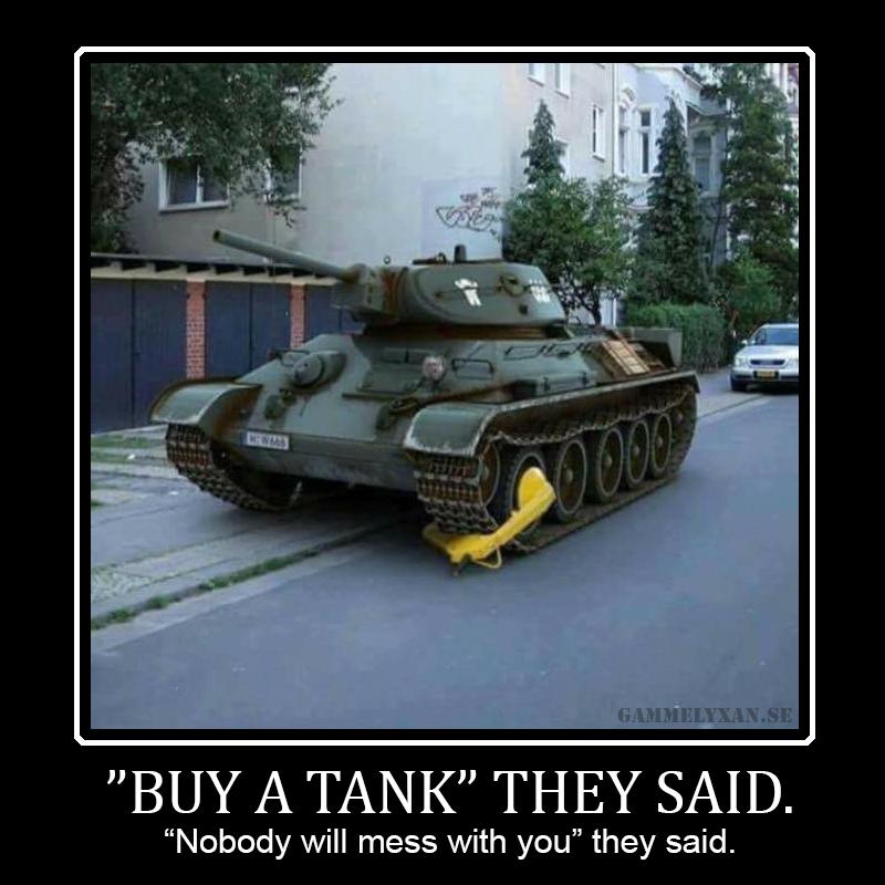 Militär humor om pansar.