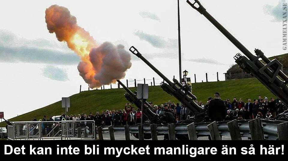 Artilleri är manligt.